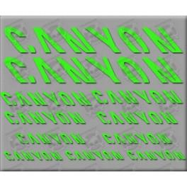 Sticker decal bike CANYON