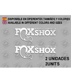 Sticker decal bike FOX RACING x2