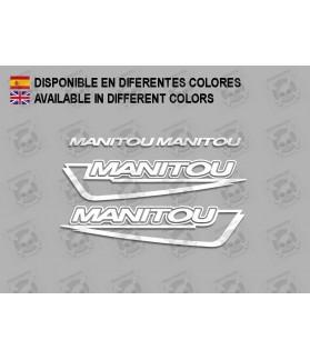Stickers decals bike MANITOU F215