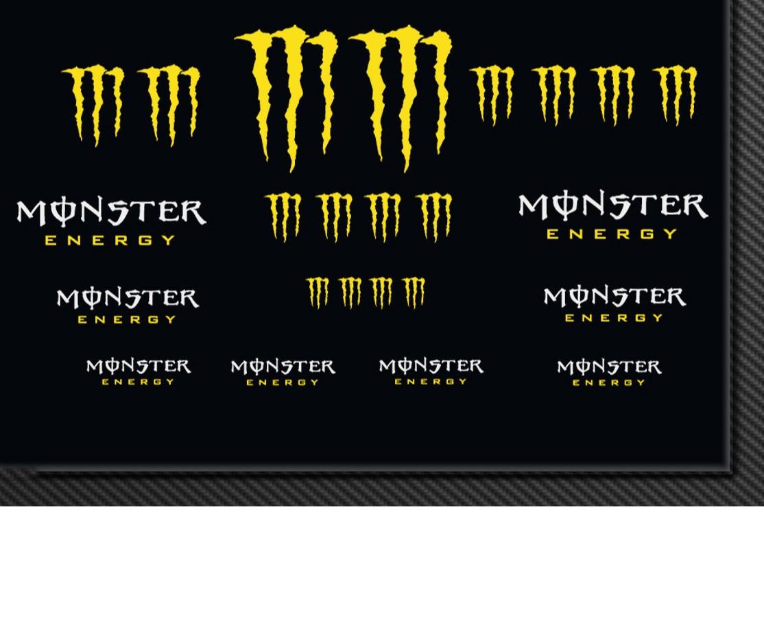 Sticker Decal Bike Monster Energy