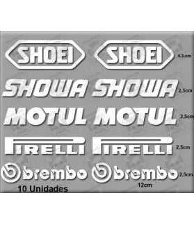 STICKERS DECALS KIT SHOEI BREMBO SHOWA MOTUL PIRELLI