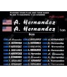 Stickers decals customizable FLAG AND YOUR NAME x 5