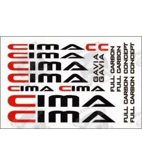 Stickers decals bike CIMA FULL CARBON