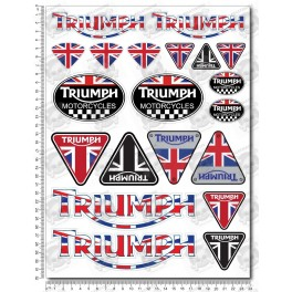 Triumph Large Decal Sticker Set 24x32 Cm Speed Triple Daytona 675