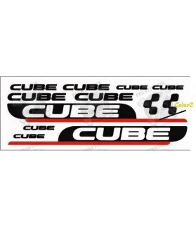 Sticker decal bike set CUBE TWO COLORS