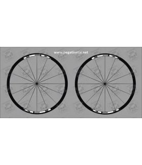 Stickers decals wheel rims HED