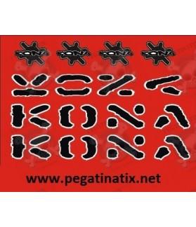 Stickers decals bike Kona