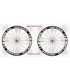 Stickers decals wheel rims cycle PROGRESS CARBON