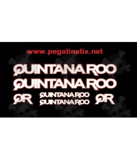 Stickers decals cycle QUINTANA ROO QR