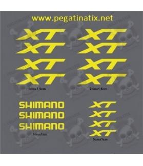Sticker decal bike SHIMANO XT