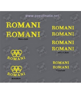 STICKER DECALS BIKE ROMANI
