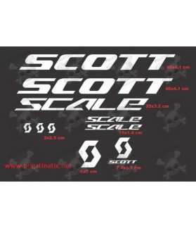 Sticker decal bike SCOTT SCALE