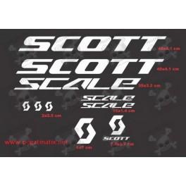 Sticker decal bike SCOTT SCALE