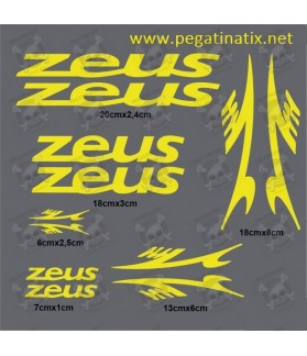 Stickers decals bike cycle ZEUS
