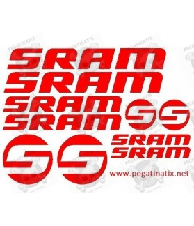 Sticker decal bike cycle SRAM