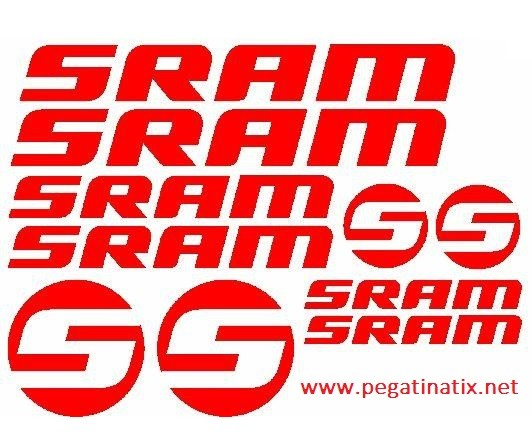 PEGATINAS SRAM X6 vinilos bicicleta autocollant aufkleber adesivi sticker decal