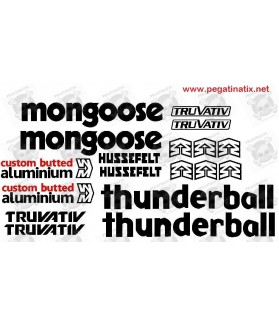 Stickers decals cycle MONGOOSE THUNDERBALL