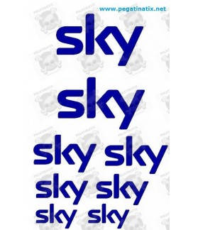 Stickers decals cycke SKY