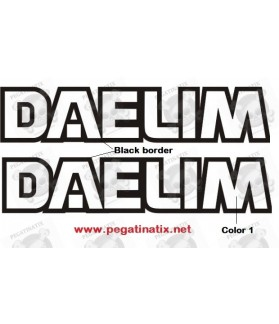 Stickers decals motorcycle DAELIM