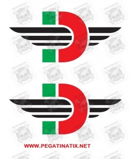 Stickers decals motorcycle DUCATI LOGO DESMO X 2