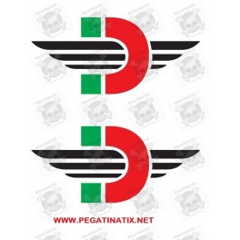 Stickers decals motorcycle DUCATE LOGO DESMO X 2