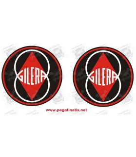Stickers decals motorcycle GILERA LOGO X2