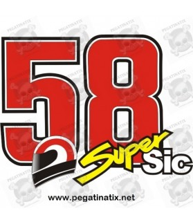 Decals motorcycle SIMONCELLI 58