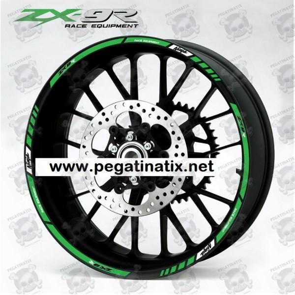 Wheel Rims Sticker Decal Aufkleber Autocollant Vinyl Adesivi Kawasaki Zx9r