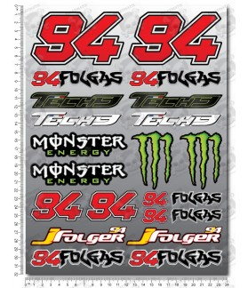 Jonas Folger 94 Folgas MotoGP Large decal sticker set 24x32 cm