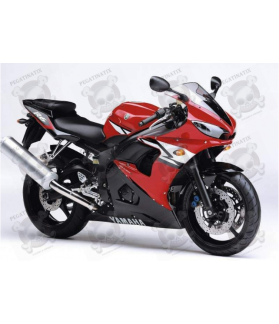 Yamaha YZF-R6 2004 - RED VERSION DECALS SET