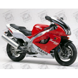 Yamaha YZF 1000R 1996 - WHITE/RED VERSION DECALS SET