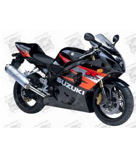 Suzuki GSX-R 600 2004 - BLACK/ORANGE VERSION DECALS SET