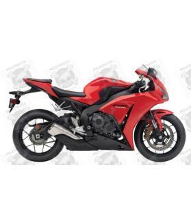 Honda CBR 1000RR 2013 - RED VERSION DECALS